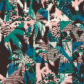 Trendy seamless exotic pattern with palm