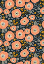 Trendy seamless floral ditsy pattern. Fabric design with simple flowers. Vector seamless background.