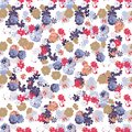 Trendy Seamless Floral Pattern in Vector.Seamless vector pattern for fabric and packaging