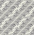 Trendy seamless pattern with curved lines of diagonal direction Stock Photos