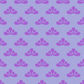 Trendy simple violet leafy pattern illustration Stock Image