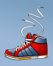 Trendy sneaker vector illustration Royalty Free Stock Photo