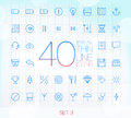 Trendy thin icons set for web and mobile Royalty Free Stock Image
