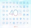 40 Trendy Thin Icons Set 3
