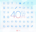 40 Trendy Thin Icons Set 4