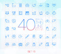 40 Trendy Thin Icons Set 15