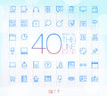 40 Trendy Thin Icons for web and mobile Set 7