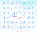 40 Trendy Thin Icons for web and mobile Set 10
