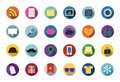 Trendy vector flat icons with long shadow illustration Royalty Free Stock Photos