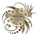 Trendy vector floral design Royalty Free Stock Images