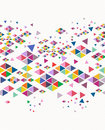 Trendy vintage hipster geometric seamless pattern unusual colorful retro hipsters triangle background vector file layered for easy Stock Photos