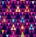Trendy vintage hipster geometric seamless pattern unusual colorful retro hipsters triangle background vector file layered for easy Royalty Free Stock Images