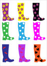 Trendy Wellington Boots Royalty Free Stock Photography