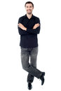 Trendy young guy posing in style Royalty Free Stock Photo