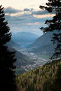 Trentino s valley view of a north italian in the evening Royalty Free Stock Photos