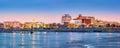 Trenton skyline panorama at dawn