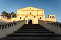 Treppe die zu san francisco catholic church in granada nicaragua führt Stockbild