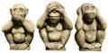 Tres estatuas de los monos Imagenes de archivo