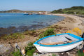 Tresco boat and beach Stock Images
