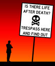 Trespass no trespassing under any circumstances Royalty Free Stock Images