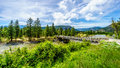 Trestle Bridge over the Nicola River as it flows along Highway 8 Royalty Free Stock Photo