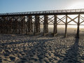 Trestle at fort bragg california pudding creek Royalty Free Stock Photos