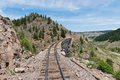 Trestle wooden railroad in southern colorado Stock Images
