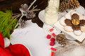 Trets for santa clauss scene of treats and the wish list Royalty Free Stock Photo