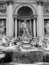 Trevi fountain ancient and famous in rome italy Stock Photography