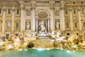 Trevi fountain fontana di trevi in rome italy Royalty Free Stock Photos