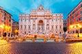 Trevi Fountain or Fontana di Trevi in Rome, Italy Royalty Free Stock Photo