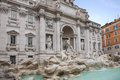 Trevi fountain important traveling destination in rome italy Royalty Free Stock Photo
