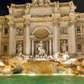 Trevi fountain the most famous fountains in the world located in rome italy Royalty Free Stock Photos