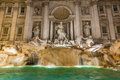 Trevi fountain the most famous fountains in the world located in rome italy Royalty Free Stock Image
