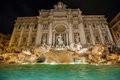 Trevi fountain the most famous fountains in the world located in rome italy Royalty Free Stock Photo