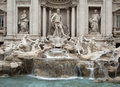 Trevi fountain the is the most popular and the biggest of rome and one of the most known in the world Stock Photo