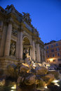 Trevi Fountain at Night Royalty Free Stock Photo
