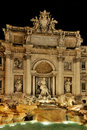 Trevi Fountain by Night Stock Photography