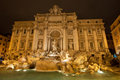 Trevi fountain by night rome italy the famous italian fontana di is a in the district in designed italian architect Royalty Free Stock Photos