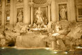 Trevi fountain by night spectacular in rome italy a view Royalty Free Stock Image
