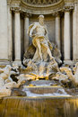 The trevi fountain rome detail of in italy Stock Images