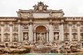 Trevi fountain rome the is a in the district in italy standing metres high and metres wide it is the largest Stock Image