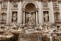Trevi fountain rome the is a in the district in italy standing metres high and metres wide it is the largest Royalty Free Stock Photos