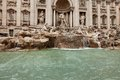 Trevi fountain rome the is a in the district in italy standing metres high and metres wide it is the largest Royalty Free Stock Photo