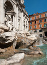 Trevi fountain rome the famous italy Stock Image