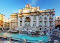 Trevi fountain rome italy di Stock Photography