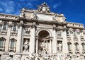 Trevi fountain rome italy fontana di Royalty Free Stock Photos