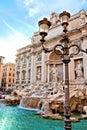 Trevi Fountain of Rome Royalty Free Stock Photo