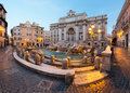 Trevi fountain rome by night in Royalty Free Stock Images