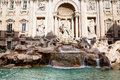 Trevi fountain in rome sculptural composition of italy Stock Photos